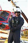 Portrait of paramedic standing in front of Medevac Stock Photo - Royalty-Free, Artist: MonkeyBusinessImages          , Code: 400-05343077