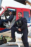 Portrait of pilot and paramedic by Medevac Stock Photo - Royalty-Free, Artist: MonkeyBusinessImages          , Code: 400-05343079