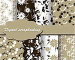 set of vector paper for scrapbook Stock Photo - Royalty-Free, Artist: Mary1507                      , Code: 400-05343541