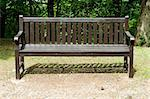 Frontal view of a wooden empty bench in a park Stock Photo - Royalty-Free, Artist: ale_rizzo                     , Code: 400-05343978