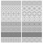 Gray trim or border collection over white background Stock Photo - Royalty-Free, Artist: karanta                       , Code: 400-05345717