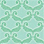 vector old style decorative seamless background pattern Stock Photo - Royalty-Free, Artist: 100ker                        , Code: 400-05346060