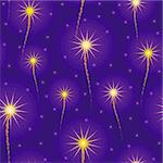 salute, fireworks in the sky seamless background Stock Photo - Royalty-Free, Artist: 100ker                        , Code: 400-05346082