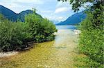 Beautiful summer Alpine  lake Grundlsee view (Austria) Stock Photo - Royalty-Free, Artist: Yuriy                         , Code: 400-05346714