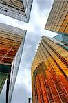 Skyscrapers with clouds reflection Stock Photo - Royalty-Free, Artist: cozyta                        , Code: 400-05347818