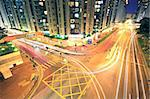 traffic in Hong Kong at night Stock Photo - Royalty-Free, Artist: cozyta                        , Code: 400-05347827
