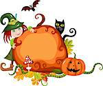 vector illustration of a halloween card Stock Photo - Royalty-Free, Artist: nem4a                         , Code: 400-05348389