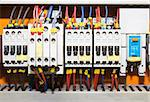 Control panel with circuit-breakers (fuse) Stock Photo - Royalty-Free, Artist: stoonn                        , Code: 400-05350575