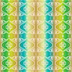 Abstract background of colorful seamless floral pattern