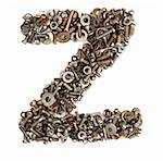 alphabet made of bolts - The letter z