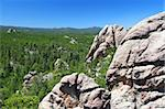 Rock formations scatter the pine forests of Black Hills National Forest in South Dakota. Stock Photo - Royalty-Free, Artist: Wirepec                       , Code: 400-05354862