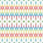 Abstract background of colorful seamless floral and dots pattern