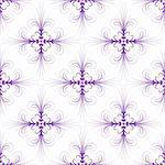 Abstract and beautiful floral pattern on white background