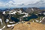 Hidden Lake of Glacier National Park seen from the summit of Mount Reynolds. Stock Photo - Royalty-Free, Artist: Wirepec                       , Code: 400-05356338