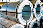 rolls of steel sheet Stock Photo - Royalty-Free, Artist: manaemedia                    , Code: 400-05357025