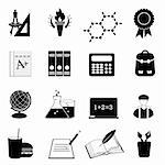 Back to school and education icons Stock Photo - Royalty-Free, Artist: soleilc                       , Code: 400-05358791