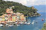 Aerial view on Portofino - small town on Ligurian sea in northern Italy. Stock Photo - Royalty-Free, Artist: rglinsky                      , Code: 400-05359561