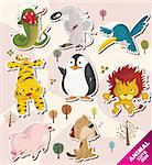 cartoon animal icons Stock Photo - Royalty-Free, Artist: notkoo2008                    , Code: 400-05360079