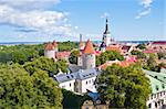 view of the medieval town of Tallinn from the Toompea Stock Photo - Royalty-Free, Artist: Jule_Berlin                   , Code: 400-05361723