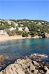 Cala Sant Francesc beach near Blanes (Costa Brava, Catalonia, Spain) Stock Photo - Royalty-Free, Artist: Marlee                        , Code: 400-05363467