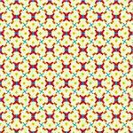 Geometric pattern (seamless) in red, blue, green, orange, creme