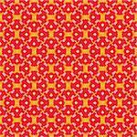 Geometric pattern (seamless) in pink, red, orange, yellow