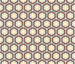Geometrical vector pattern (seamless) with stars and circles in yellow, grey, brown, green