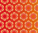 Geometric pattern (seamless) in yellow, red, pink, orange