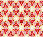 Seamless pattern with roses, lines and stars