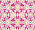 Seamless pattern with diamonds, lines and stars