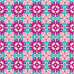Seamless and elegant Baroque pattern with flowers in pink, purple, green Stock Photo - Royalty-Free, Artist: Virtuelle                     , Code: 400-05363635