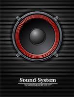 sound loud speaker vector illustration Stock Photo - Royalty-Freenull, Code: 400-05364033