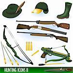 Collection of hunting icons illustrations - part 2. Stock Photo - Royalty-Free, Artist: Stiven                        , Code: 400-05364066