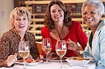 Friends Having Dinner Together At A Restaurant Stock Photo - Royalty-Free, Artist: MonkeyBusinessImages          , Code: 400-05364262