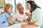 Friends Having Lunch Together At A Restaurant Stock Photo - Royalty-Free, Artist: MonkeyBusinessImages          , Code: 400-05364284
