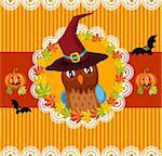 vector illustration of a halloween card Stock Photo - Royalty-Free, Artist: nem4a                         , Code: 400-05364308