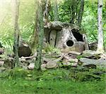 Dolmen in the forest near Gelendjik. Russian Fedrration Stock Photo - Royalty-Free, Artist: DashaPetrenko                 , Code: 400-05364523
