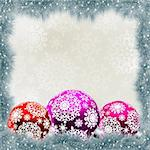 Christmas card with balls. EPS 8 vector file included Stock Photo - Royalty-Free, Artist: ghostintheshell               , Code: 400-05367133