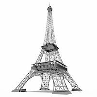enki (artist) - Eiffel Tower in Paris isolated on white background Stock Photo - Royalty-Freenull, Code: 400-05368068