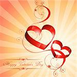 beautiful heart background design art with floral
