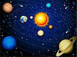 Vector illustration - Solar system background Stock Photo - Royalty-Free, Artist: Jut                           , Code: 400-05368271