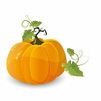 vector halloween pumpkin isolated on white background Stock Photo - Royalty-Freenull, Code: 400-05369361