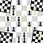 Seamless background of the figures for the game of chess Stock Photo - Royalty-Free, Artist: guarding                      , Code: 400-05369543