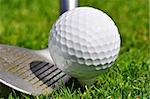 Golf ball and driver, ready to strike Stock Photo - Royalty-Free, Artist: ruigsantos                    , Code: 400-05370467