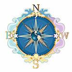 Beautiful styled wind rose, symbol of travels. Stock Photo - Royalty-Free, Artist: tatianat                      , Code: 400-05370947