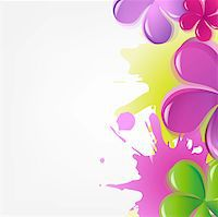 flores - Abstract Flowers, Vector Illustration Stock Photo - Royalty-Freenull, Code: 400-05371833