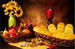 Dramatic still life of beautifully decorated food in autumn season Stock Photo - Royalty-Free, Artist: neelsky                       , Code: 400-05372774