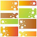 set of 4 stylish autumn backgrounds