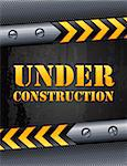 Vector illustration - Under construction background Stock Photo - Royalty-Free, Artist: Jut                           , Code: 400-05373939