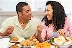 Couple Having Lunch Together At Home Stock Photo - Royalty-Free, Artist: MonkeyBusinessImages          , Code: 400-05374155